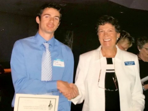 Matt-Kearney-Student-with-Nancy-Stukenberg-2004-Scholarship-Committee-Chair-2